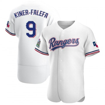 Men's Texas Rangers Isiah Kiner-Falefa Authentic White Home Jersey