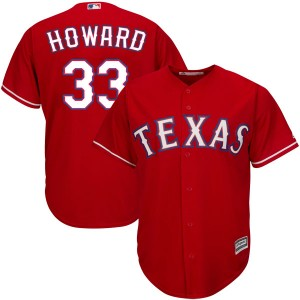 Men's Majestic Texas Rangers Frank Howard Authentic Red Cool Base Alternate Jersey