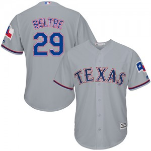 Youth Majestic Texas Rangers Adrian Beltre Authentic Grey Road Cool Base Jersey
