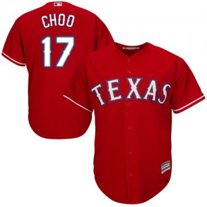 Men's Majestic Texas Rangers Shin-Soo Choo Authentic Red Alternate Cool Base Jersey